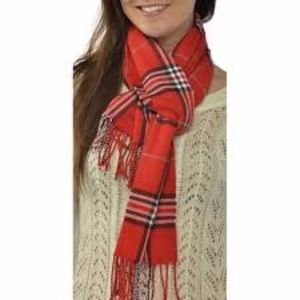 Accessories - 💰 Classic plaid scarf red white and black stripe